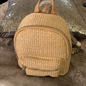 Forever 21 straw backpack tan